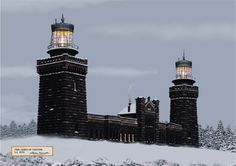 Twin Lights of Navesink ~ Sandy Hook Bay NJ