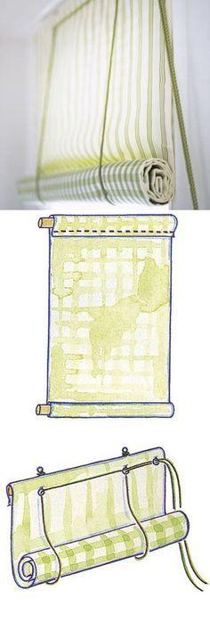 Рулонные шторы своими руками. Видео и мк. Roman Blinds, Easy Curtains, No Sew Curtains, Rolling Shades, Balcony Curtains, House Blinds, Blinds For Windows, Curtains With Blinds, Diy Blinds