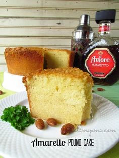 by Paula Jones. To-die for Amaretto Pound Cake is moist and delicious. With a hint of almond, it's great served plain or with berries, cream or ice cream..