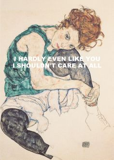 Summer '68 - Pink Floyd / Seated Woman With Bent Knee - Egon Schiele