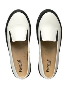 Simple, white ballerinas with black, 'trainer' soles. Manufactured in Poland. Made from breathing and waterproof microfibre with Oeko-Tex Standard 100. Insole made from high quality, breathing and absorbing microfiber with the same certificate. 100% vegan - PETA Approved VEGAN certificate. 10% of the earned profit on each pair of FAIRMA ETHICAL DESIGN shoes is donated for charity purposes. We want to create a better world!  #veganshoes #vegan #madeineu #polishveganshoes #weganskiebuty… Vegan Shoes, Peta, Worlds Of Fun, Certificate, Designer Shoes, Poland, Charity, Spring Summer, Pairs
