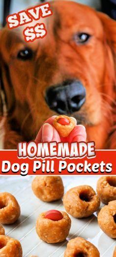 Homemade Dog Treats, Healthy Dog Treats, Homemade Desserts, Pet Treats, Dog Treat Recipes, Dog Food Recipes, Snacks Recipes, Foods Dogs Can Eat, Pill Pockets