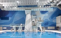 Entro created environmental graphics and wayfinding for the Pan Am/Parapan Am Aquatics Centre, which hosted many events during the games Floor Graphics, Sport Park, Pan Am, Communication Art, Environmental Graphics, Color Theory, Magazine Design, Building Design, Wall Design