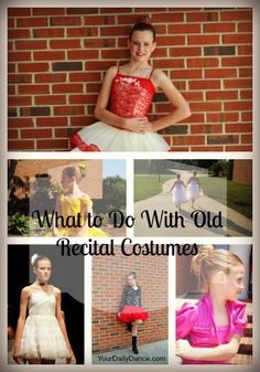What to do with your dance costumes when the dance season is over...