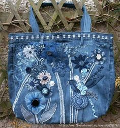 turn your old jeans into something new... a purse!!!