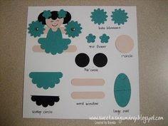 sweet as a gumdrop...: Cheerleader & Whale Punch Art Instructions...