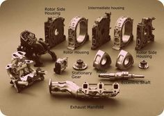 Parts of the Wankel engine