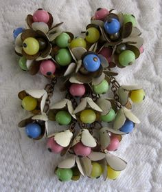 miriam haskell vintage jewelry | Vintage 1940s Miriam Haskell Colorful Bead by CornermouseHouse