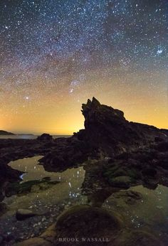 """Night at Niarbyl. Niarbyl, which means """"the tail"""" in Manx for the way it extends into the Irish Sea, is a settlement along the southwest coast of Isle of Man between Port Erin and Peel."""