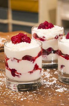 Mascarpone-Himbeer-Quark: sommerliches Schicht-Dessert