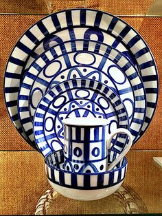Dansk blue and white Arabesque