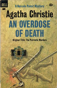 An Overdose of Death (1964) by Agatha Christie, Golden Age British crime fiction, US paperback edition book cover