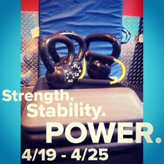 This week we focus on Strength, Stability, and Power. 4/19-25 at poise Fitness