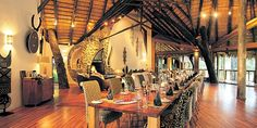 """Richard Branson's Ulusaba Safari Lodge located in Big 5 Sabi Sand Game Reserve (part of a tour donated by """"Southern Destinations"""" to a charity fundraiser) African Room, African House, African Theme, African Safari, African Style, Richard Branson, American Interior, African Home Decor, Interior Decorating"""