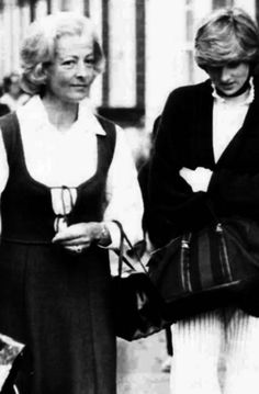 Lady Diana with her mother, Frances Shand Kydd.