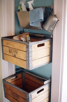 bing images of recycled milk crates | simple project to make your recycling look and work better for you.