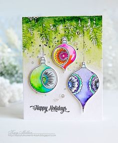 Happy Holidays Card by Kay Miller for Papertrey Ink (September 2016)