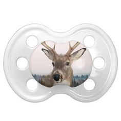 Whitetail Deer Double Exposure Pacifier BooginHead Pacifier