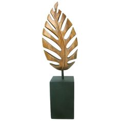 """""""LEAF""""  Scandinavian  Mid 20th century  An eye catching and enchanting sculpture in a modernist Leaf motif. Hand carved, forming a flowing and floating formation. Warm wooden patina. Possible Danish origin."""