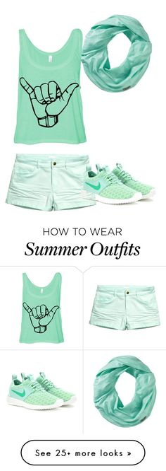 """""""Mint Green"""" by shakespeares-rose on Polyvore featuring Smartwool, H&M, NIKE, women's clothing, women, female, woman, misses and juniors"""
