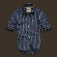 New Hollister Abercrombie Mens Fitted Classic Shirt S 7009494c61cf7