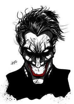 Joker by DiegoLlorente Joker Comic, Le Joker Batman, Batman Art, Dc Comics Art, Marvel Dc Comics, Joker Kunst, The Man Who Laughs, Joker Und Harley Quinn, Batman Tattoo