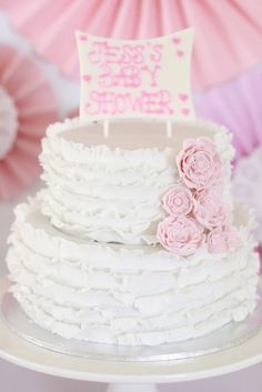 Shades Of Pink And Vintage Doyley Baby Shower Party Ideas