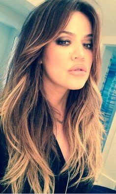 Khole Kardashian-Balayage Hair