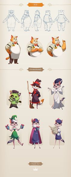 A collection of some character designs I have done in the game