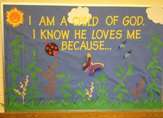 "Ideas For Bulletin Boards | Shelly Brown writes, ""Here is a picture of a bulletin board we did for ..."