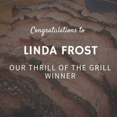 """Congratulations to Linda Frost our """"Thrill of the Grill"""" winner.  We had 106 entries across Facebook Instagram and Twitter and used a random number generator to select Linda as our winner of a $50 gift card to Walmart to buy a tailgating grill and Jones Creek Beef item of choice. Her favorite BBQ meat is brisket by the way. Excellent choice!  Thank you for participating and stay tuned for a new promotion this month. Happy October!"""