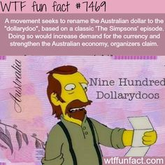 WTF Facts : funny, interesting & weird facts — Australian Dollarydoo - FACTS