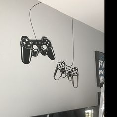 Gamer Wall Decal Controller Stickers Home Decor Customized For Kids Bedroom Vinyl Wall Art Decals Wall Decal Sticker, Vinyl Wall Decals, Wall Stickers, Gamer Bedroom, Boys Bedroom Decor, Game Room Design, Game Room Decor, Wall Tattoo, Welcome Signs Front Door