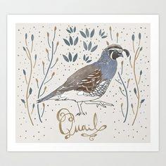 Quail Art Print by Kyle Naylor