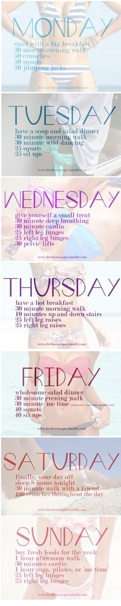 This is a great way to keep your workouts moving throughout the week!!