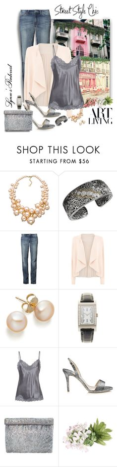 """""""Pink & Gray With Jeans 3 - #2487"""" by lynnspinterest ❤ liked on Polyvore featuring Carolee, Effy Jewelry, Wrangler, Monsoon, Bulgari, Falcon & Bloom, Jimmy Choo, Nina and 2487"""