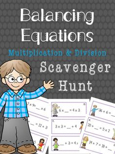 Get your students up and moving with this engaging math activity! Balancing Equations Multiplication and Division. Perfect for small groups, cooperative learning, differentiated instruction and early finishers Fourth Grade Math, First Grade Math, Second Grade, Balancing Equations, Algebra Equations, Math Skills, Math Lessons, Elementary Math, Upper Elementary