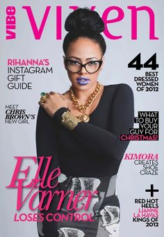 """Elle Varner grabs our attention on the cover of VIBE Vixen. Inside the magazine,The """"Refill"""" singer, with her big hair and bodacious curves talks growth, fame, and boys. Elle Varner, What A Wonderful Life, Blue Lipstick, Vogue, Relaxed Hair, Black Girls Rock, Girl Swag, Female Singers, Celebrity Dresses"""