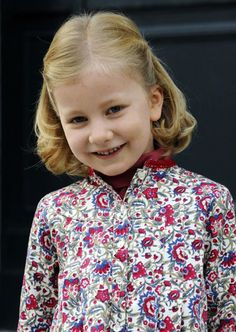 Belgium's Princess Elisabeth daughter of Crown Prince Phillipe and princess Mathilde (2008 photo)