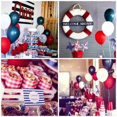 nautical first birthday party for boy www.spaceshipsandlaserbeams.com