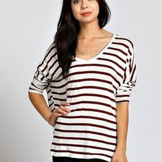 Maroon Striped Dolman from Sta-Glam for $29.99 on Square Market