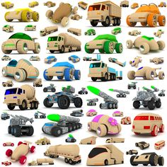 http://www.turbosquid.com/3d-models/wooden-toy-cars-trucks-3d-max/757774