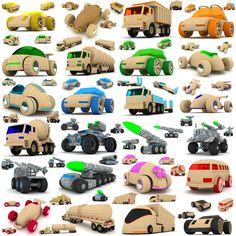 http://www.turbosquid.com/3d-models/wooden-toy-cars-trucks-3d-max/757774
