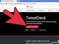 Use TweetDeck Step 1.jpg How to Use TweetDeck TweetDeck [1] is a great desktop app by Twitter [2] for power-users. Using TweetDeck, you can effectively follow many more people and topics than you would be able to do using the Twitter web interface or any of the other desktop apps.