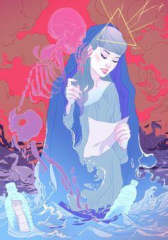 "eiruvsq: "" Illustrator & Artist: Marguerite Sauvage ""Plastic Continent"" http://www.margueritesauvage.com/ """