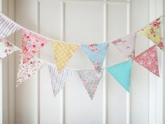 Fabric banners. Very cute for a little girl's room.