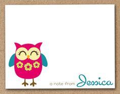 Personalized Owl Stationery Set (set of 8). $11.50, via Etsy.