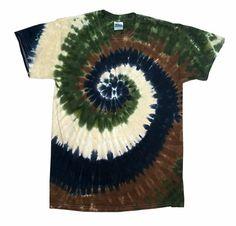 Camo Swirl Tie Dye T-Shirt