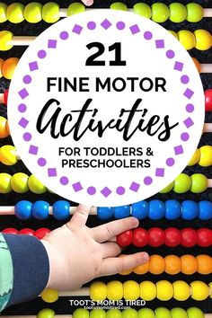 21 Fun Fine Motor Activities for Toddlers Cutting Activities For Kids, Preschool Learning Toys, Fine Motor Activities For Kids, Sensory Activities Toddlers, Motor Skills Activities, Sensory Kids, Preschool Crafts, Kids Crafts, Fall Crafts For Toddlers