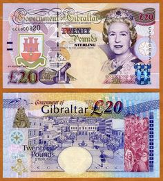 Gibraltar 20 Pounds 2004 Commemorative QEII P 31 UNC | eBay